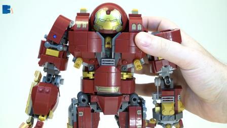 乐拼正品超级英雄钢铁侠反浩克机甲76105拼装积木玩具模型07101