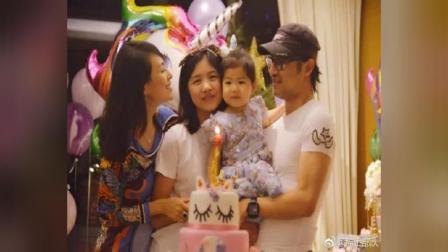 章子怡庆祝女儿醒醒两岁生日层生日蛋糕颇吸睛,场面超梦幻!