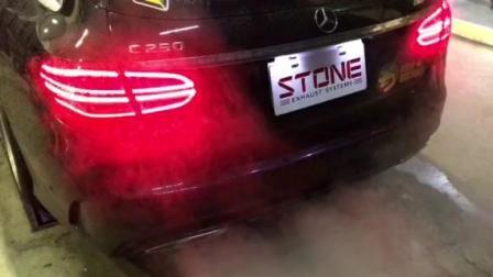 STONE(巨石)奔驰 S205 C250涡流三元头段+电子阀门中尾段