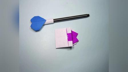 儿童手工折纸教程简单的心形笔帽折纸步骤图解
