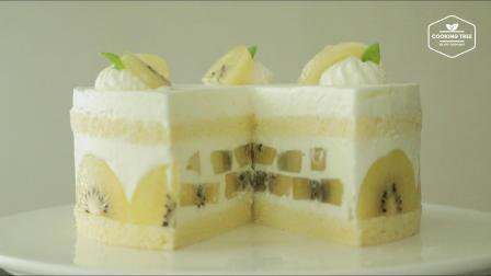黄金奇异果奶油蛋糕   Golden kiwi cake Recipe