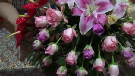 玫瑰花束图片 干花插花图片 如何制作丝网花