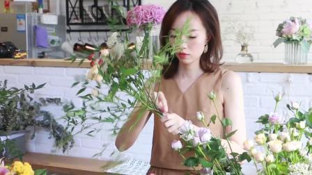 11分钟教你学会自然主义花束的花艺教程