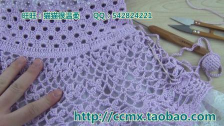 303—春樱连衣裙套(5)–小球球的鈎法猫猫编织教程毛线的织法视频全集