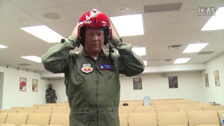美国空军雷鸟飞行表演队进行飞行表演超清