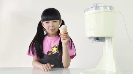 当张籽沐遇上班尼兔,DIY甜筒冰淇淋欢乐不停