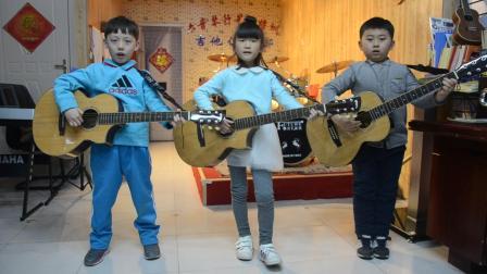 六音琴行学员 刘东升,胡馨怡,陈泰元演唱《龙的传人》