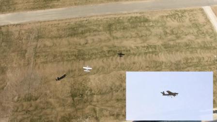 串列翼倾转旋翼实飞视频