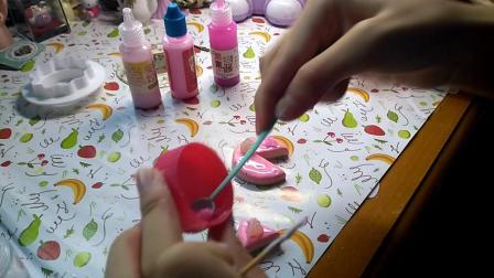 ﹤茜欣﹥粘土小制作:粉红浪漫三层夹心小蛋糕