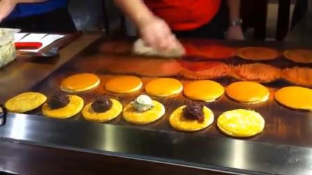 日本街头小吃铜锣烧! 看着都流口水, 难怪机器猫这么喜欢吃!