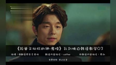 孤单又灿烂的神-鬼怪台词韩语教学03期-06集孔刘独白