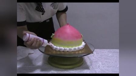 三分钟学会寿桃的做法【刘清蛋糕培训学校】