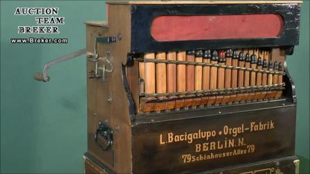Lot 853 Bacigalupo Violinopan Barrel Organ, c. 1910 - YouTub