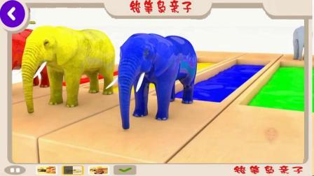 学习颜色婴儿木象玩3D 桶很多大理石色球-Kugelbahn 足球比赛