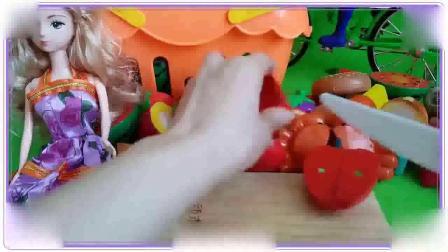 米老鼠和唐老鸭一起吃红红的大西瓜,水果连连看 哆啦a梦