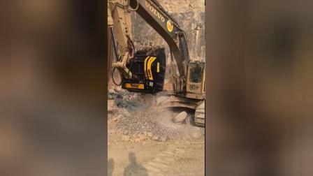 沃尔沃挖机配BF120.4S4粉碎斗 大型矿山使用意大利MB粉碎铲斗