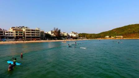 航拍:海南三亚海棠湾后海