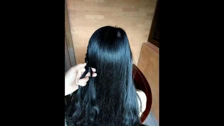中长发蘑菇头偏分头扎发长发学生头卷发中长发中长发高贵