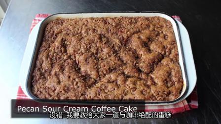 山核桃酸奶油咖啡蛋糕食谱 - 如何制作屑饼蛋糕(中文字幕)