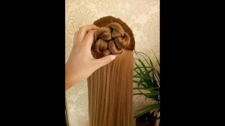 碎发儿童中长发短发编发苹果头辫子丸子头新娘编发发型中长发