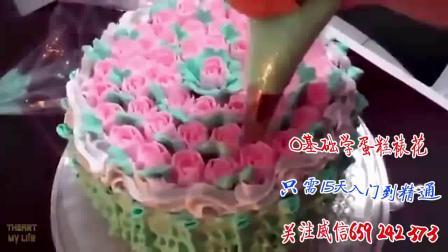 精致韩式裱花蛋糕抹面装饰, 不易化掉且 韩式裱花奶油霜