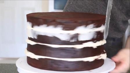 如何制作白色磨砂婚礼蛋糕教程(蛋糕甜点教程)