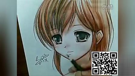 手绘漫画教程-水彩铅笔画动漫人物_标清