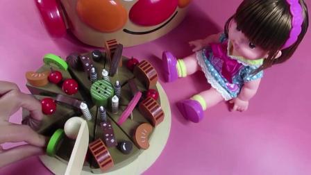 水果切切看 娃娃食玩 巧克力生日蛋糕  61_超清