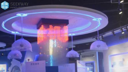 安徽创新成果展馆 - 创新三维立体灯光装置