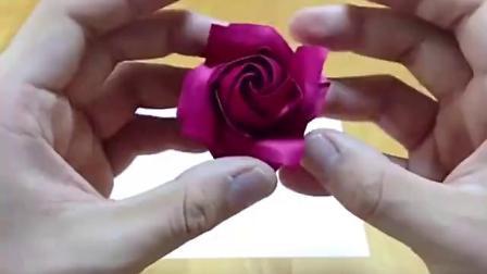 如何折精美玫瑰花 折纸技能教程大全 0001