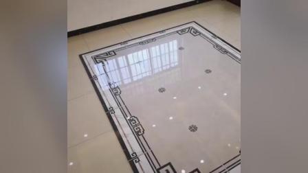 优胜瓷砖新中式大理石效果网地毯瓷砖拼花地砖