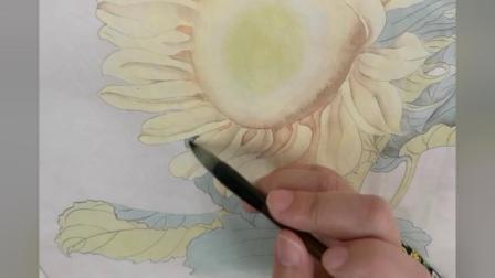 跟乐知轩主(耿老师)学工笔画——向日葵(2)