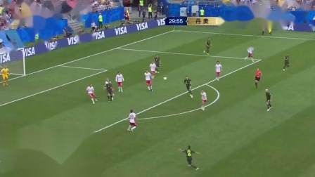 【射门被挡出】上半场第29分钟澳大利亚10号克鲁斯禁区中路接7号莱基传球右脚打门,被对方后卫6号克里斯滕森封堵 世界杯C小组第2轮 丹麦 1-0 澳大利亚