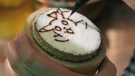 手绘皮卡丘口袋妖怪蛋糕——西安街头小吃