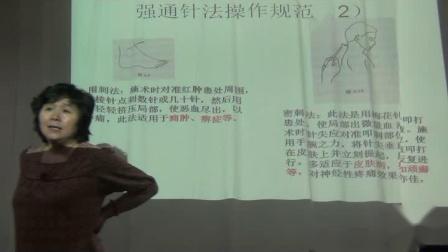 中医针灸推拿培训视频贺林贺氏三通 强通针法操作规范