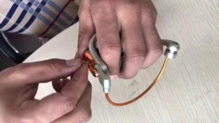 金属头渔轮抛线环的安装