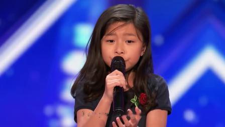 [华裔】9歲香港女孩震撼美國達人秀