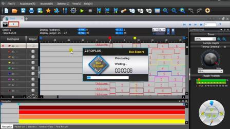 ZEROPLUS孕龙逻辑分析仪BusExpert II 如何校準P300ST探棒並測量208MHz SD卡