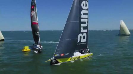 125秒视频回顾沃尔沃环球帆船赛海牙站布鲁内尔港内赛