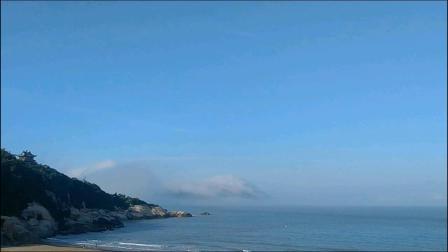延时摄影 海上的水汽上升