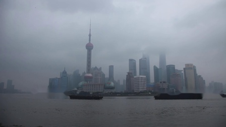 Huangpu River cruise ship time-lapse photography