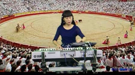 丁悦天路+斗牛便携双排三排键电子琴脚电子鼓