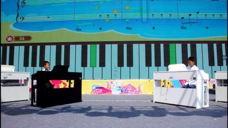theone庆七一百人钢琴演奏
