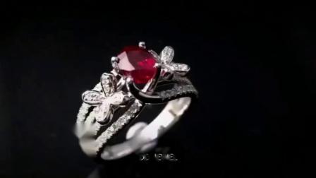【DD珠宝】红宝石钻石戒指,轻奢精致~