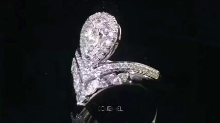【DD珠宝】水滴皇冠款钻戒,豪华镶嵌~