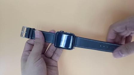 iwatch爱马仕真皮表带拆装视频