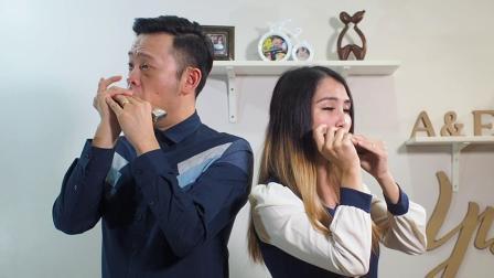 [大娱乐家]一百万个梦想 A Million Dreams - Aiden & Evelyn口琴演绎