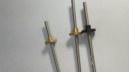 微型细小丝杠直径5丝杆不锈钢端部可加工1个起