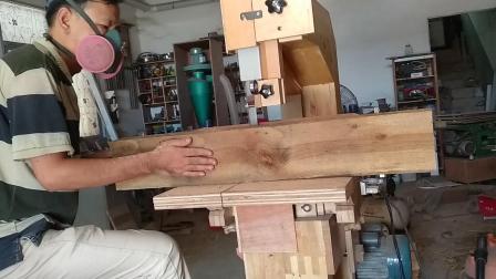 自制木质带锯开料视频