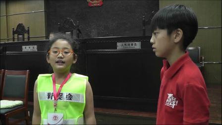 YCC小志愿者王珺瑶中山法院